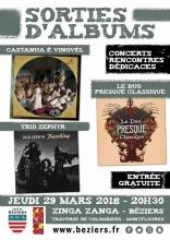 Troisième album Castanha & Vinovel, 29 mars à Béziers