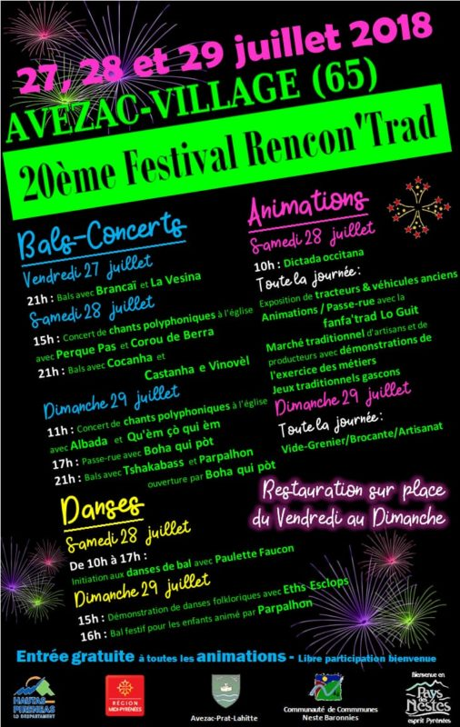 "2àèm"" Festival Rencon'trad Avezac"